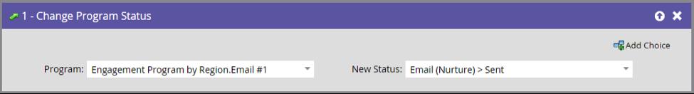 Update program status